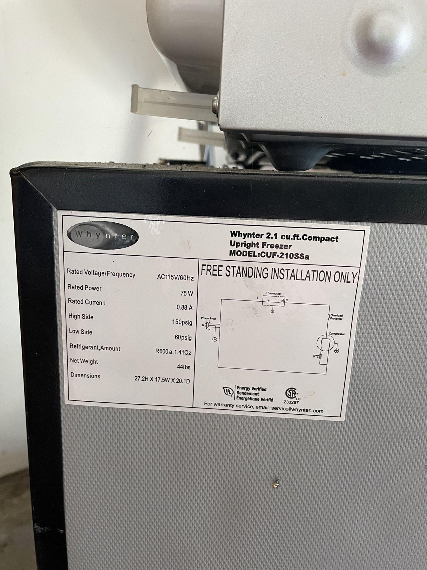 2.1 Cu.ft Upright Freezer