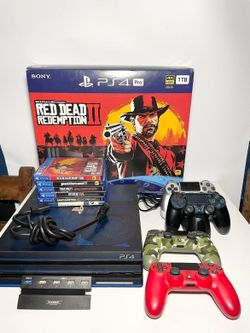 Sony PS4 Pro 1TB Red Dead Redemption 2 with VR and TV Bundle Thumbnail