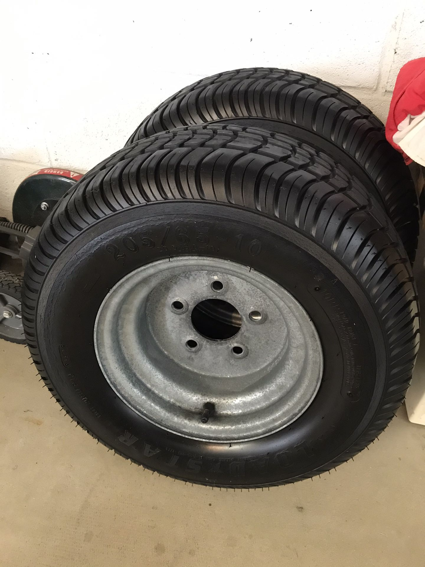 Trailer tire rims