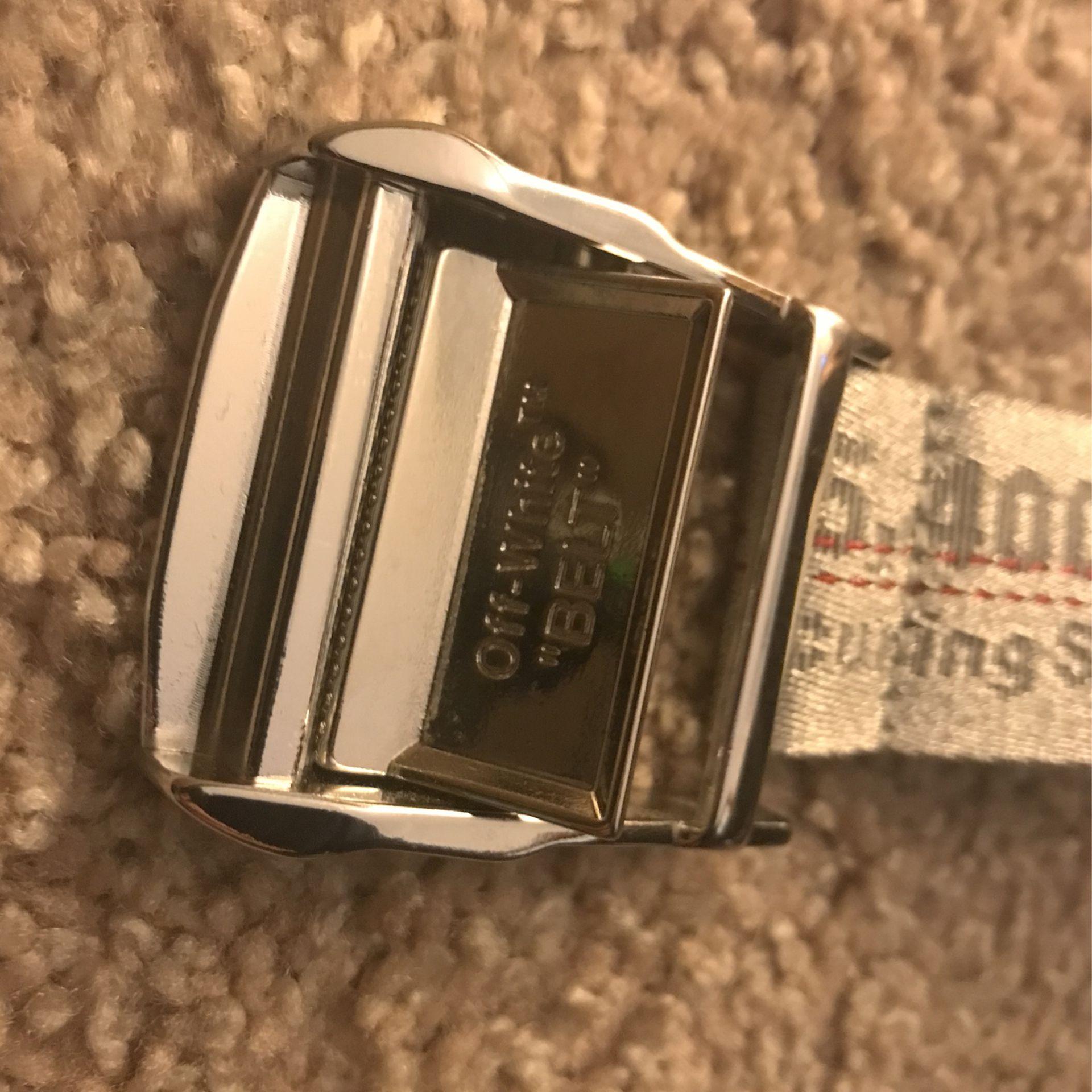 Silver/White  OFF-WHITE Belt