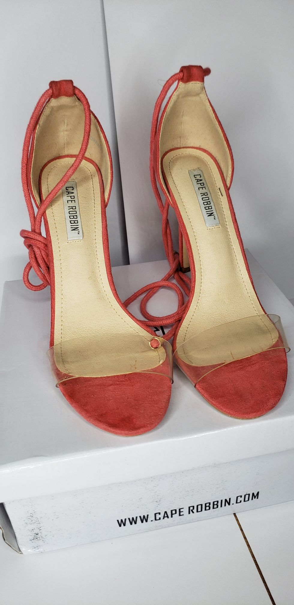 Clear heels size 8