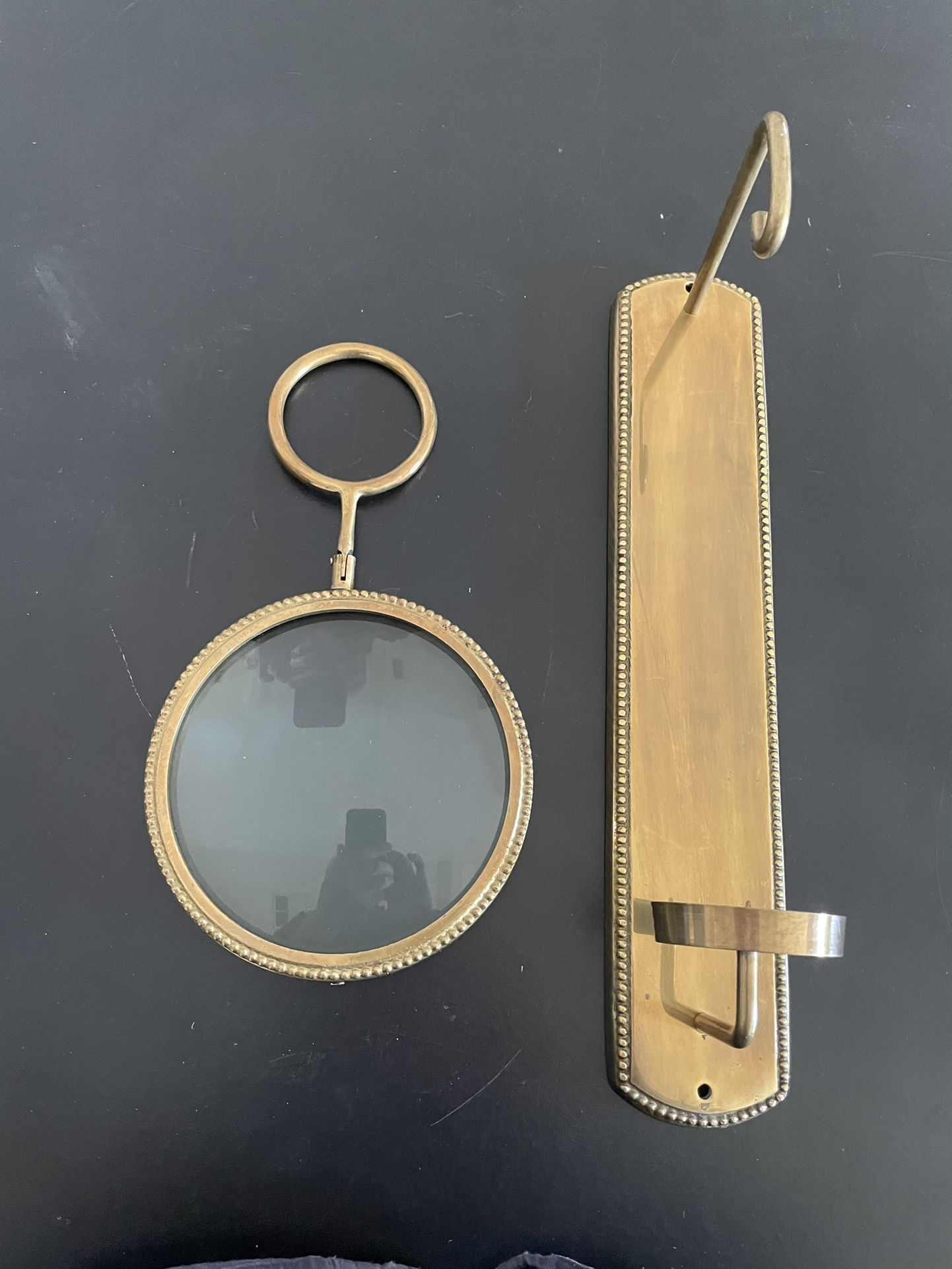 Brass Magnifying Wall Sconce