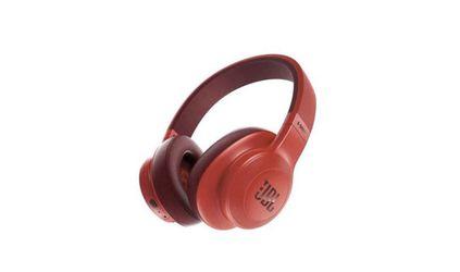 Red JBL E55BT Wireless Over Ear Headphones Thumbnail