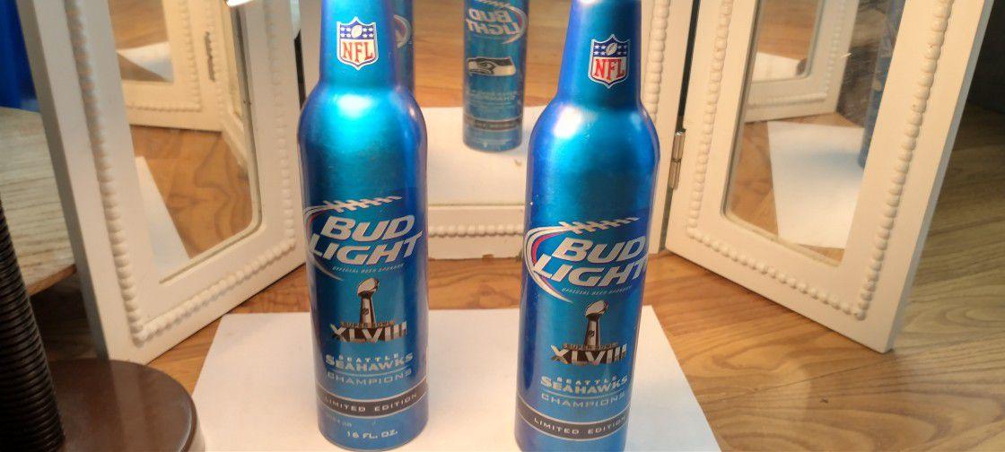 Seahawks Collectors Budweiser Bottles!
