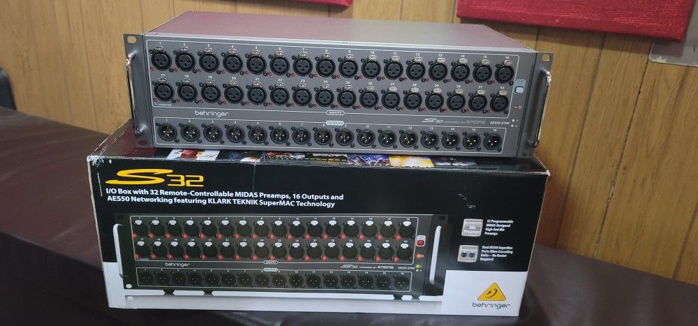 BehringerX32 40-channel Digital Mixer and BehringerS32 32 x 16 Digital Stage Box