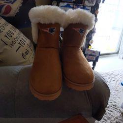 Women's New England Patriot's Boots Thumbnail