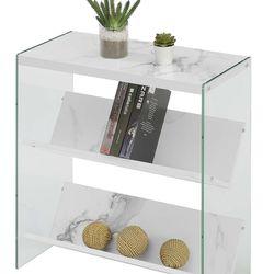 Soho Bookcase, White Faux Marble Thumbnail