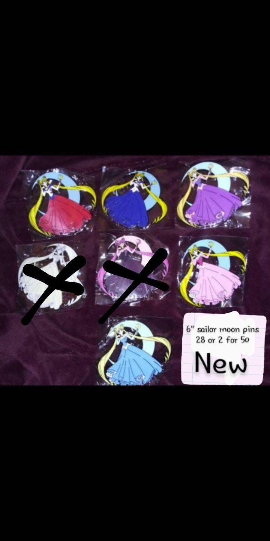 """6"""" Sailor Moon Pins"""