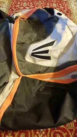 Grey/white/orange Baseball Easton Backpack Thumbnail