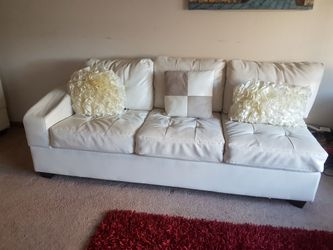 White leather sectional couche shape sofas Thumbnail