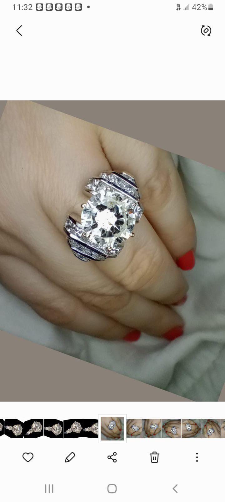 5 carat platinum diamond engagement ring
