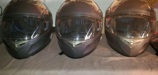 Bluetooth Grey Motorcycle Helmets/Gloves Thumbnail