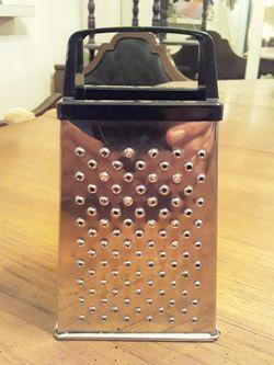 "Mini Stainless Steel Four Sided Cheese Grater & Vegetable Slicer- 5 3/4""H Thumbnail"