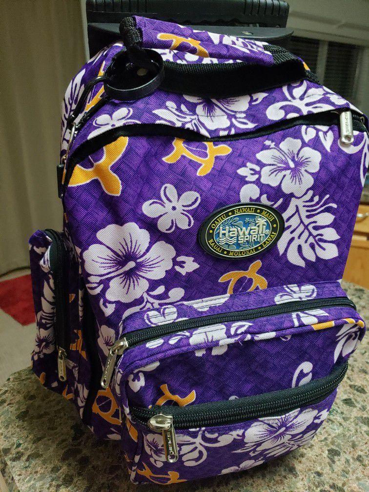 Hawaiian rolling backpack