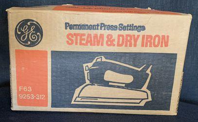 Vintage GE Permanent Press Steam & Dry Iron. Thumbnail