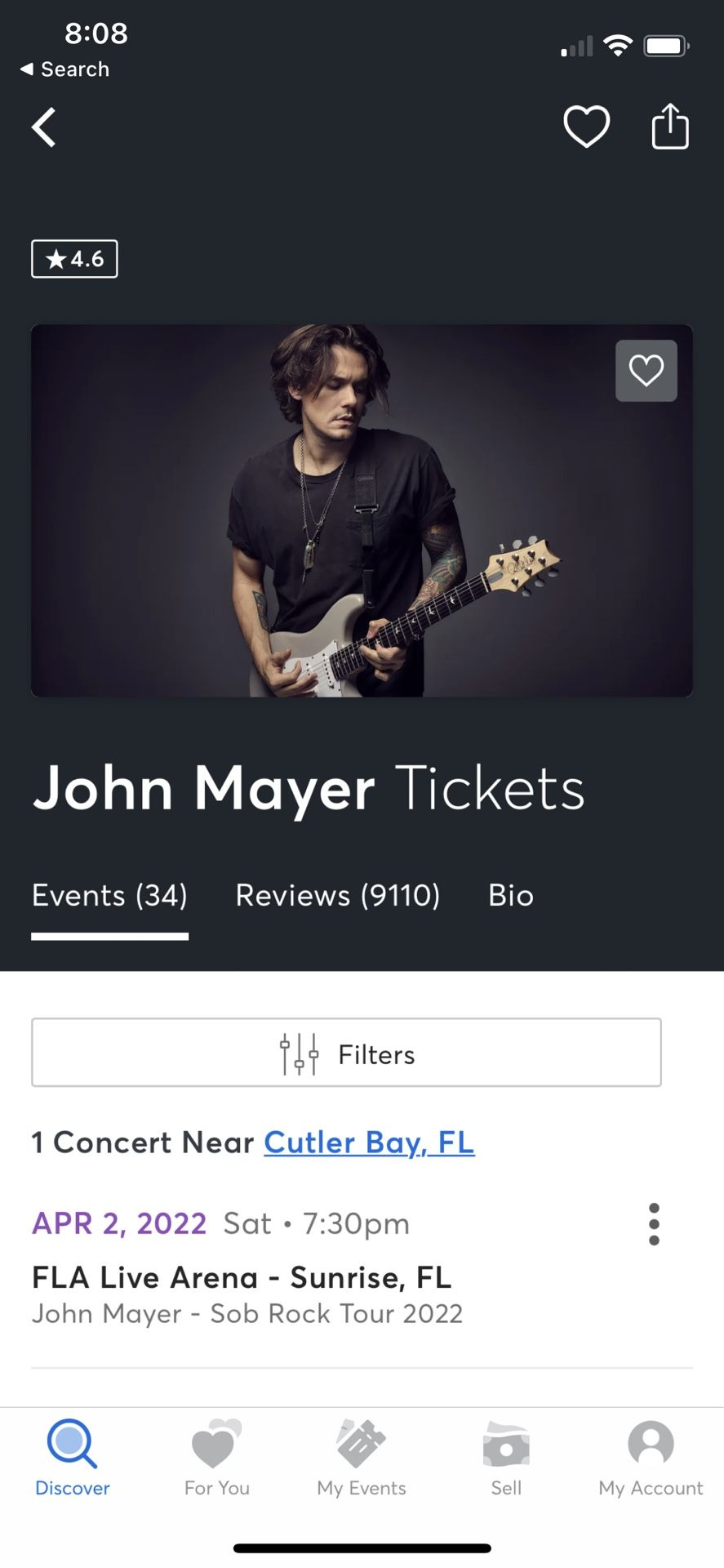 John Mayer Tickets For Sale (2)