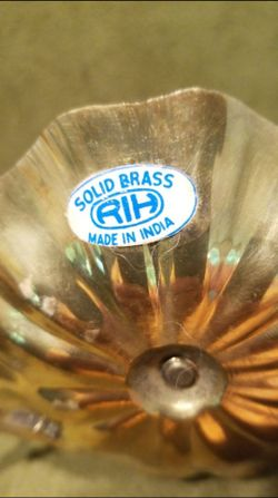 Solid Brass Candle Operas Thumbnail