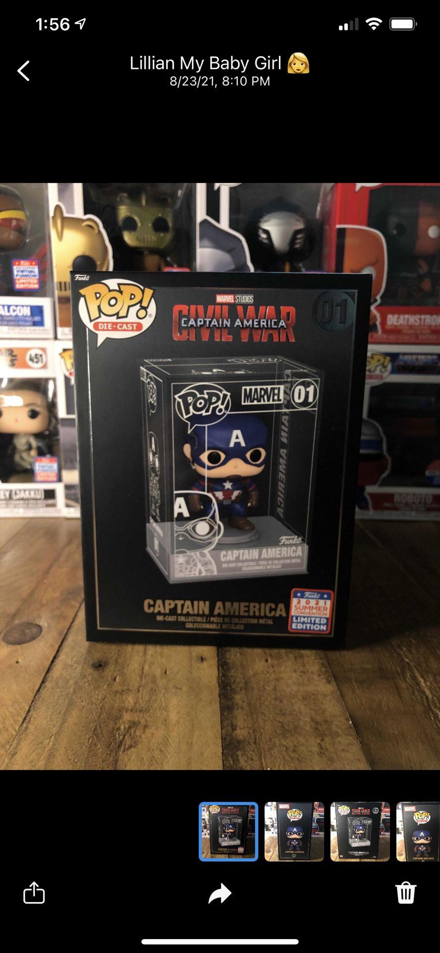 Funko Pop Captain America Die Cast Funko Exclusive
