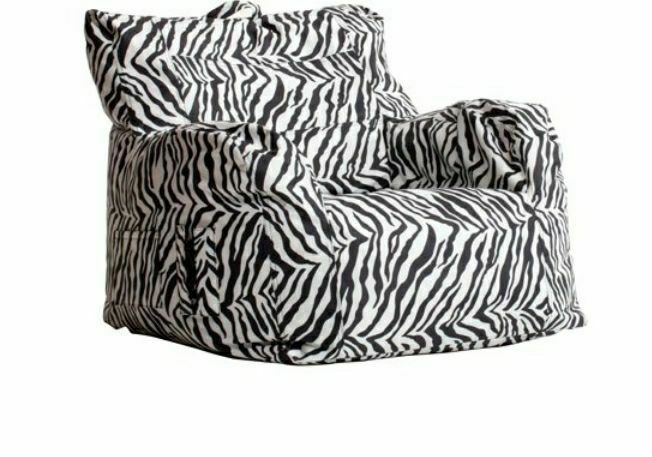 New Zebra Bean Bag chair