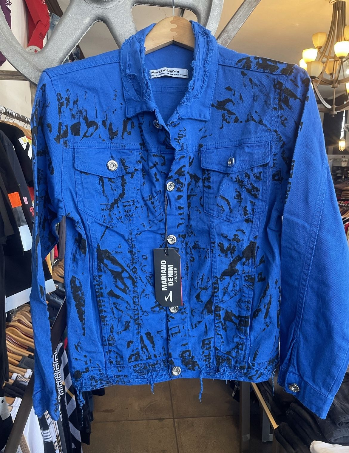 Men's Blue Denim Jacket Sizes Small Medium Large XL STORE PICK UP