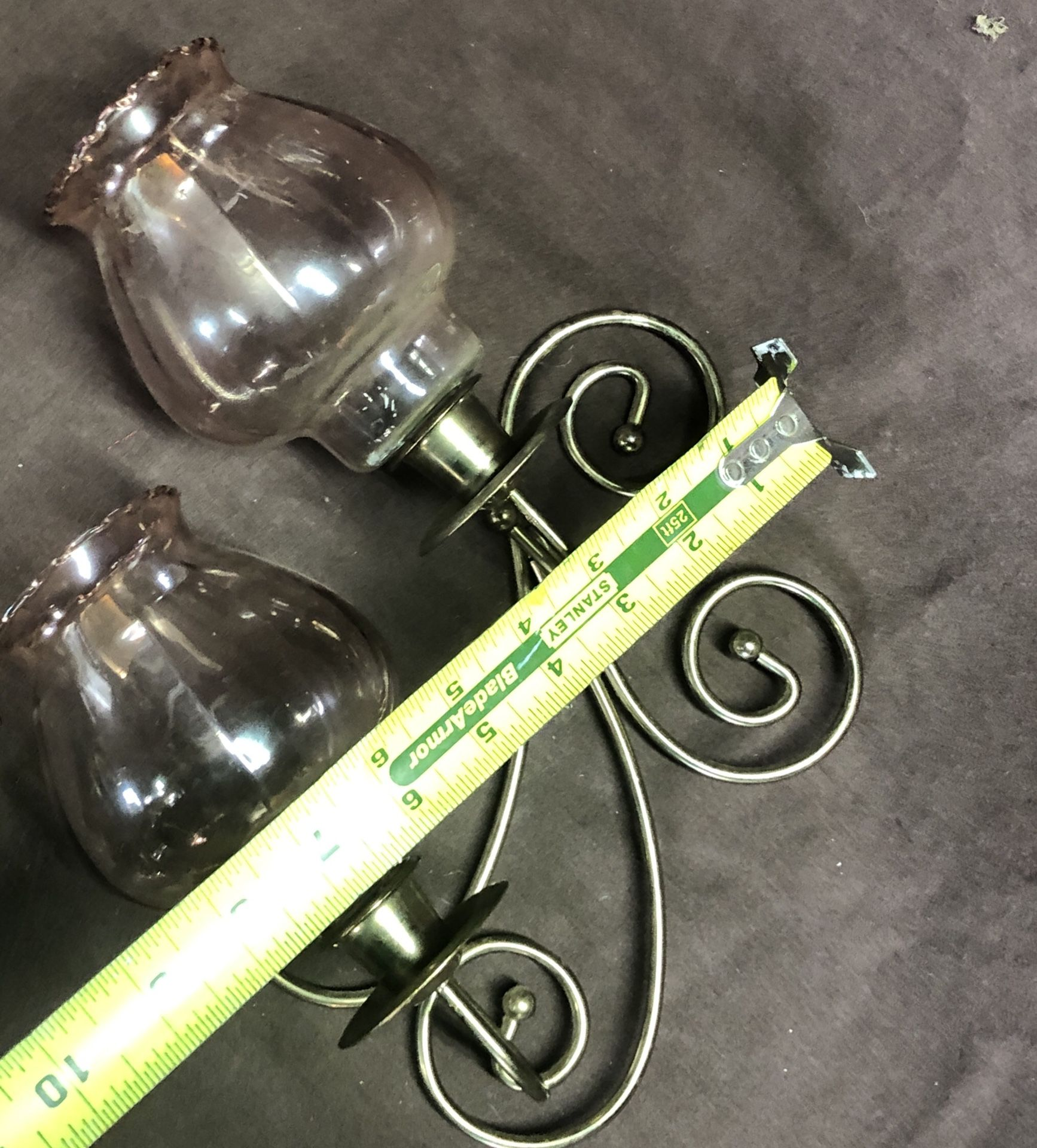 2 candle wall sconce set of 2