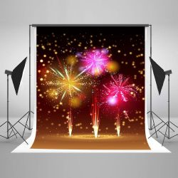 5x7ft Firework Backdrop for Photography New Year Background Photo Booth Props Thumbnail