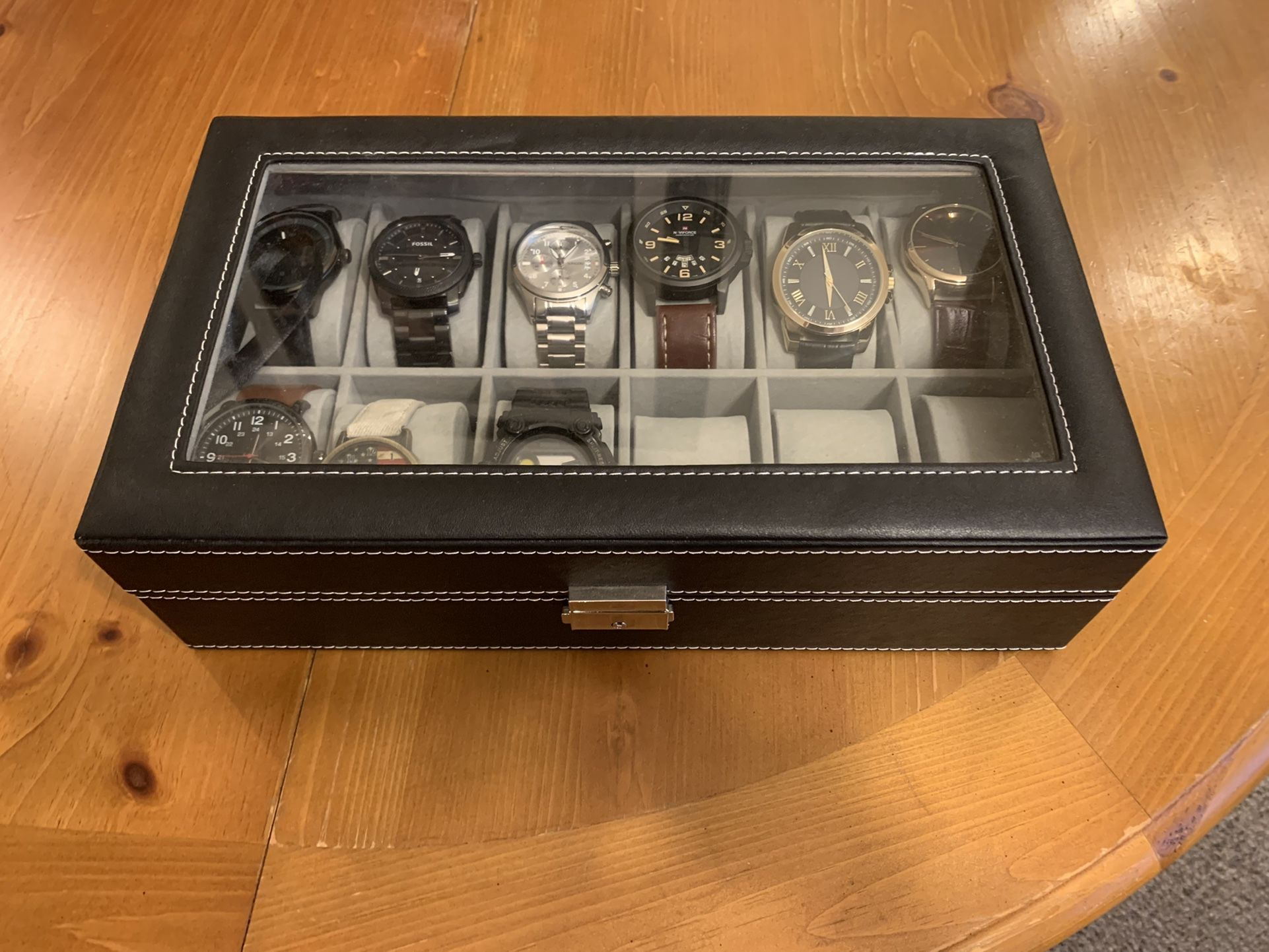 12 Slot Watch Holder With Watches