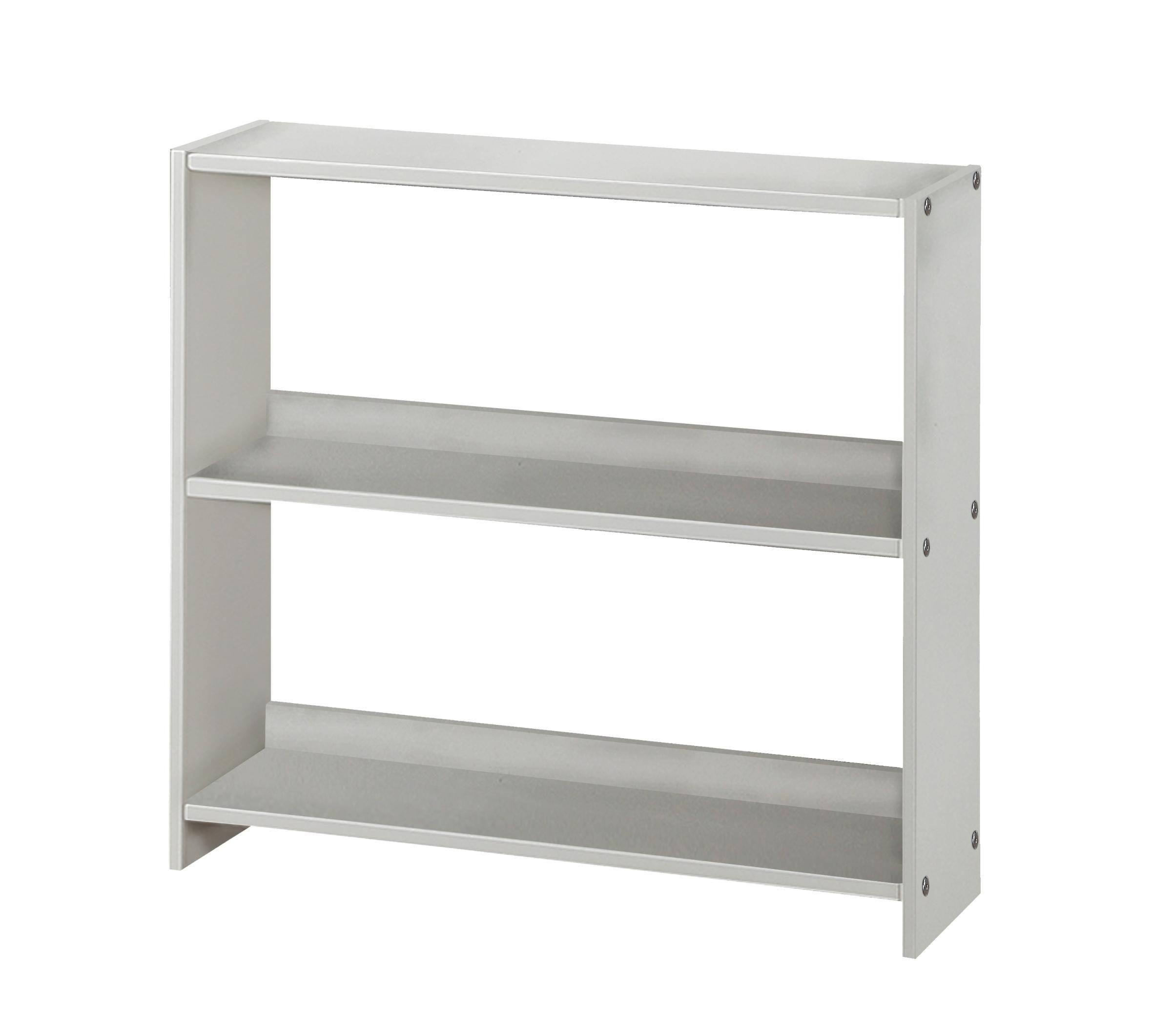 Pivot Direct Louver Small Bookcase In White Finish PD_795EW