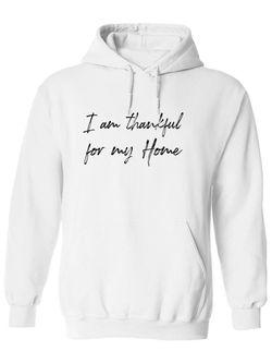Smartprints I Am Thankful For My Home Hoodie Men's -GoatDeals Designs White Size 2XL Thumbnail