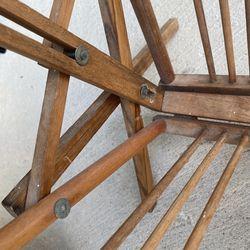 Antique Wooden Magazine Rack  Thumbnail