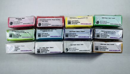 Sculpey Premo Clay New 10 Different Colors 2 White Thumbnail
