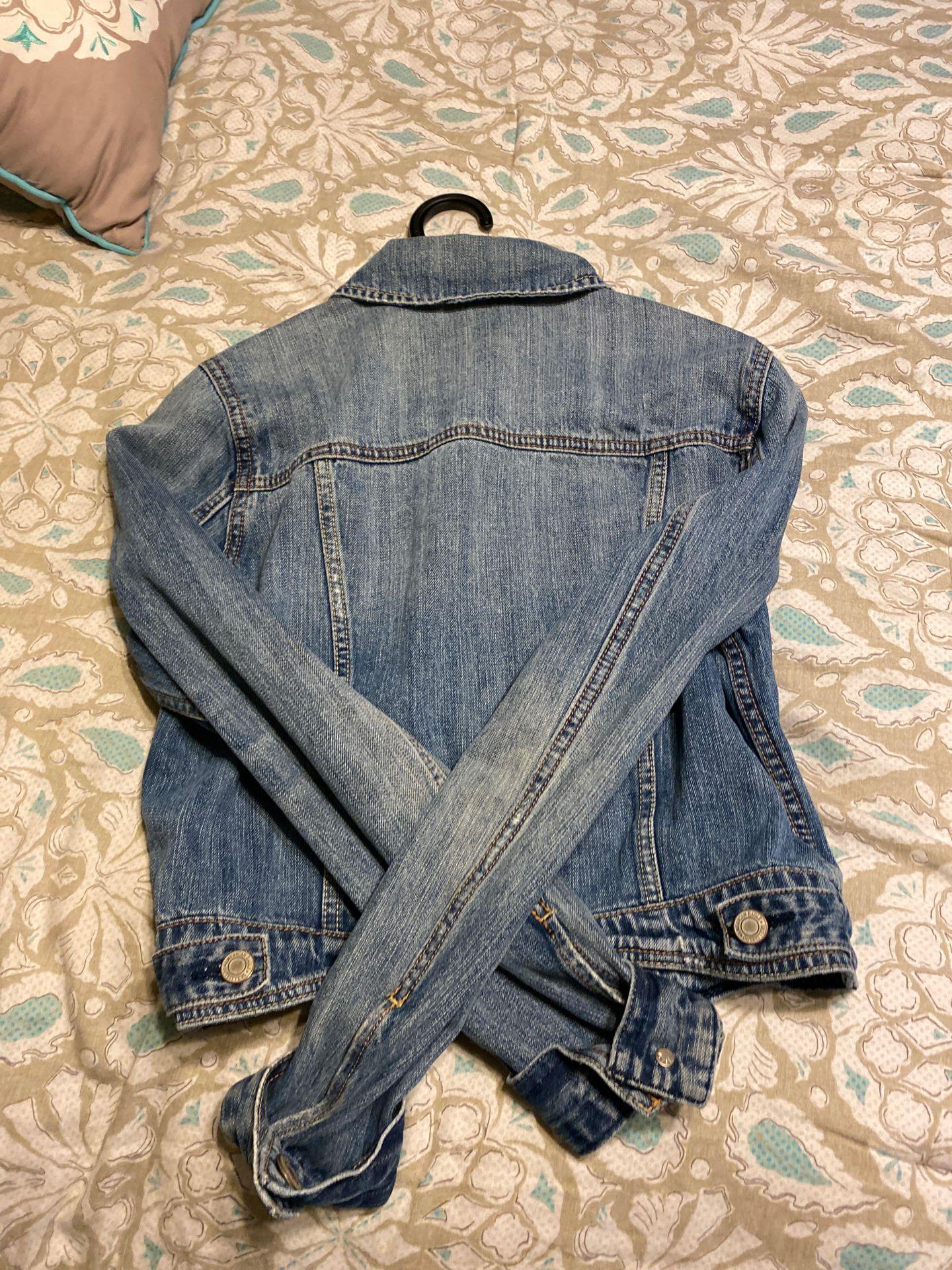 American Eagle denim light blue jacket MEDIUM
