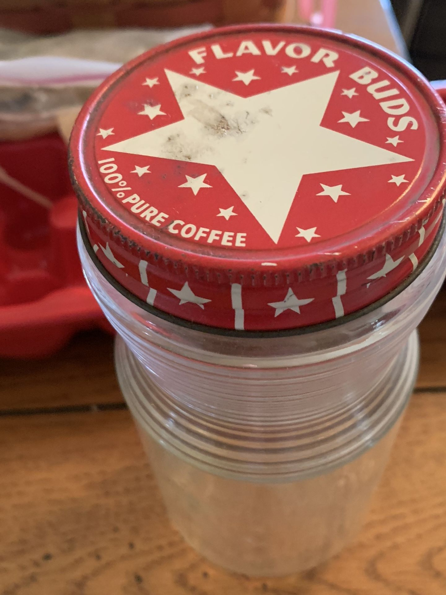 Vintage Coffee Glass Container