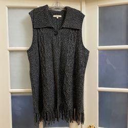 Dark Grey Sejour Sweater Vest Size 1X Thumbnail