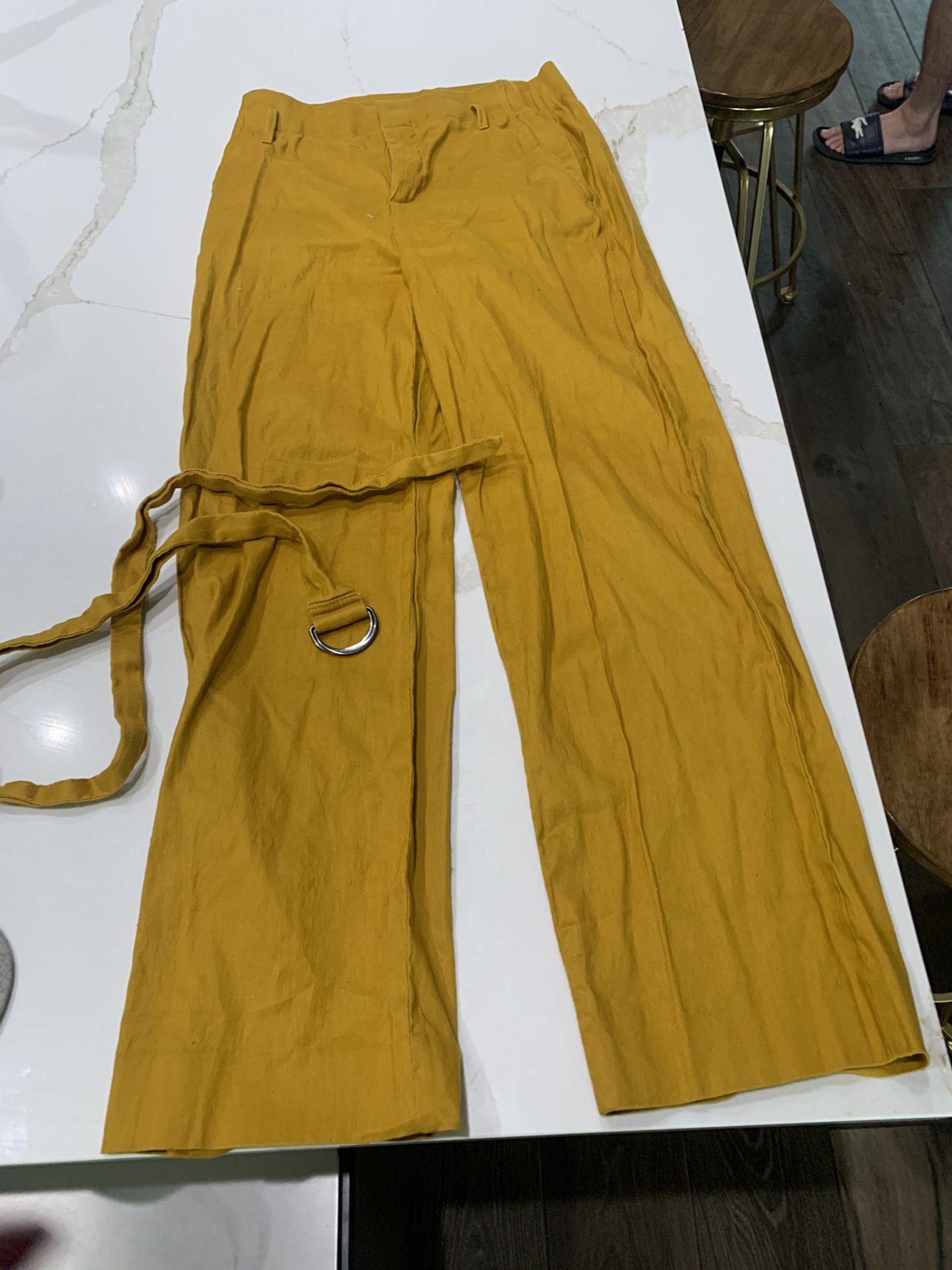 Yellow Banana Republic Pants