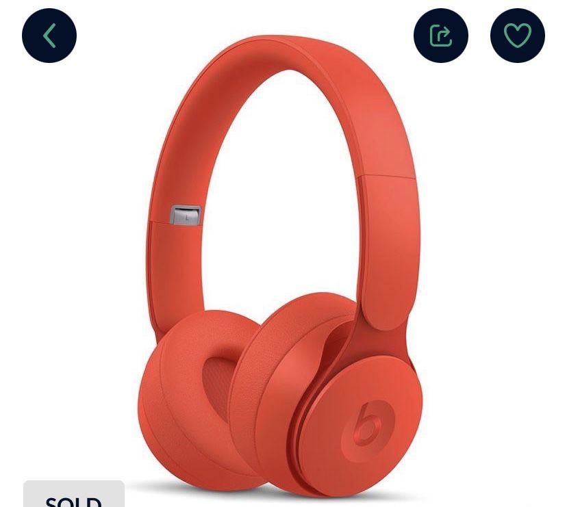 Beats Solo Matte Red Noise Canceling Headphones