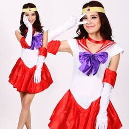 Sailor mars Halloween custome w a tutu addition