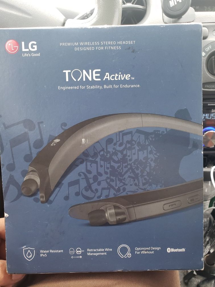 Lg tone active bluetooth headset like new