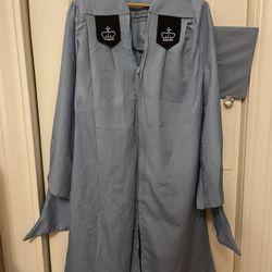 Columbia Univerity Master Graduation Gown Thumbnail