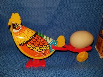 Vintage Happy Papa Rooster wind up toy Thumbnail