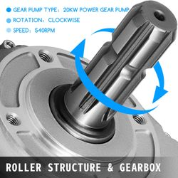 Tractor Hydraulic Fluid Pto Pump Gearbox Assembly 540rpm Clockwise Long Tube Thumbnail