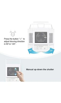 Personal Air Cooler, 5000mAh Rechargeable Battery Operated 60°&120° Auto Oscillation, Portable Air Conditioner Fan with 3 Wind Speeds & 2 Refrigeratio Thumbnail