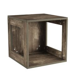 Open End Table Stackable Contemporary Minimalist Modular Cube Accent Table with Open Sides Thumbnail