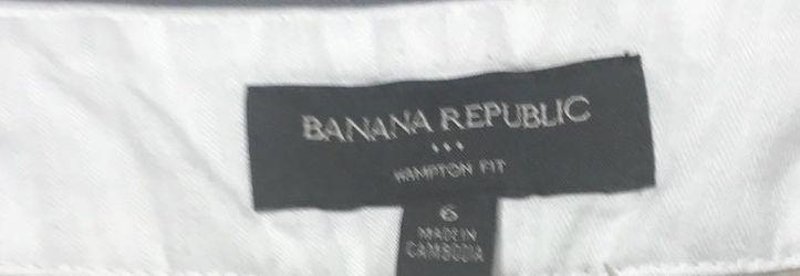 Banana Republic Hampton Khaki Shorts Sz 6 Thumbnail