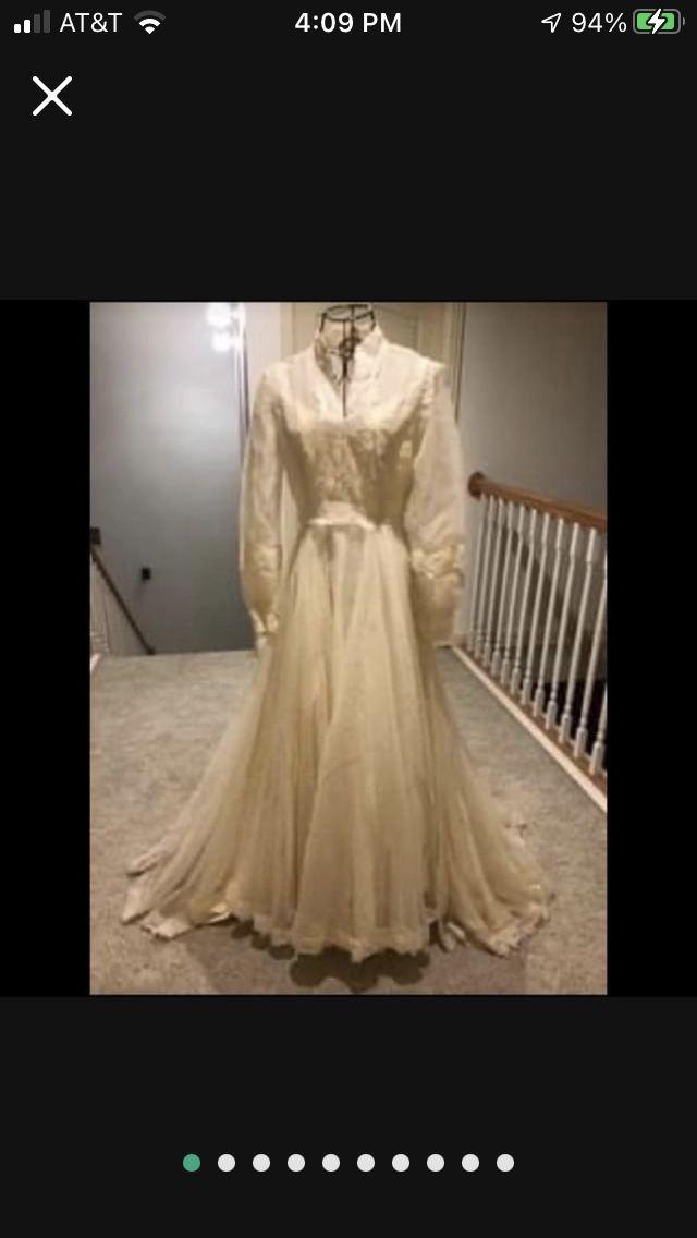 Elegant Wedding Dress And Matching Veil (size 8)
