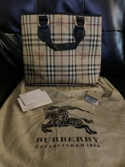 Authentic Burberry Haymaker Tote Thumbnail