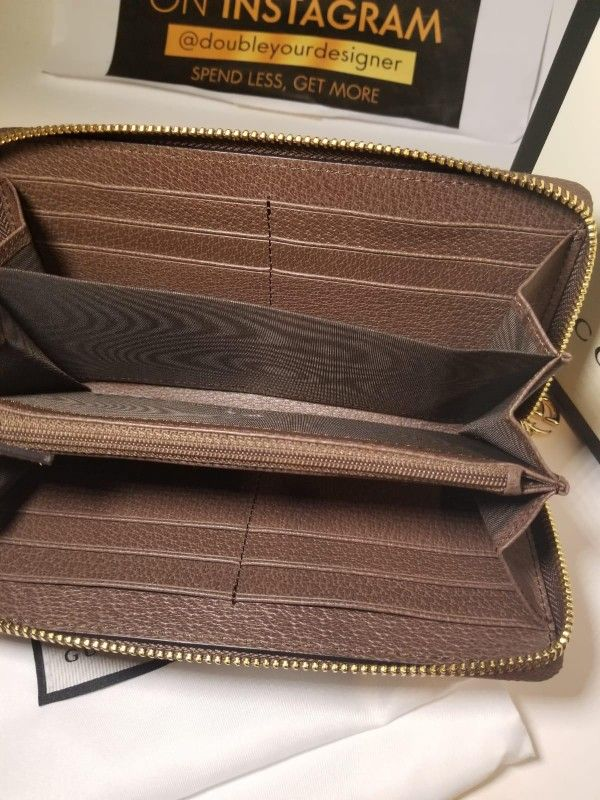 Gucci Ophidia Brown GG Supreme Wallet