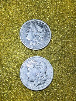  1884 and 1885 Silver Morgan Dollar Coins Collectibles  Thumbnail