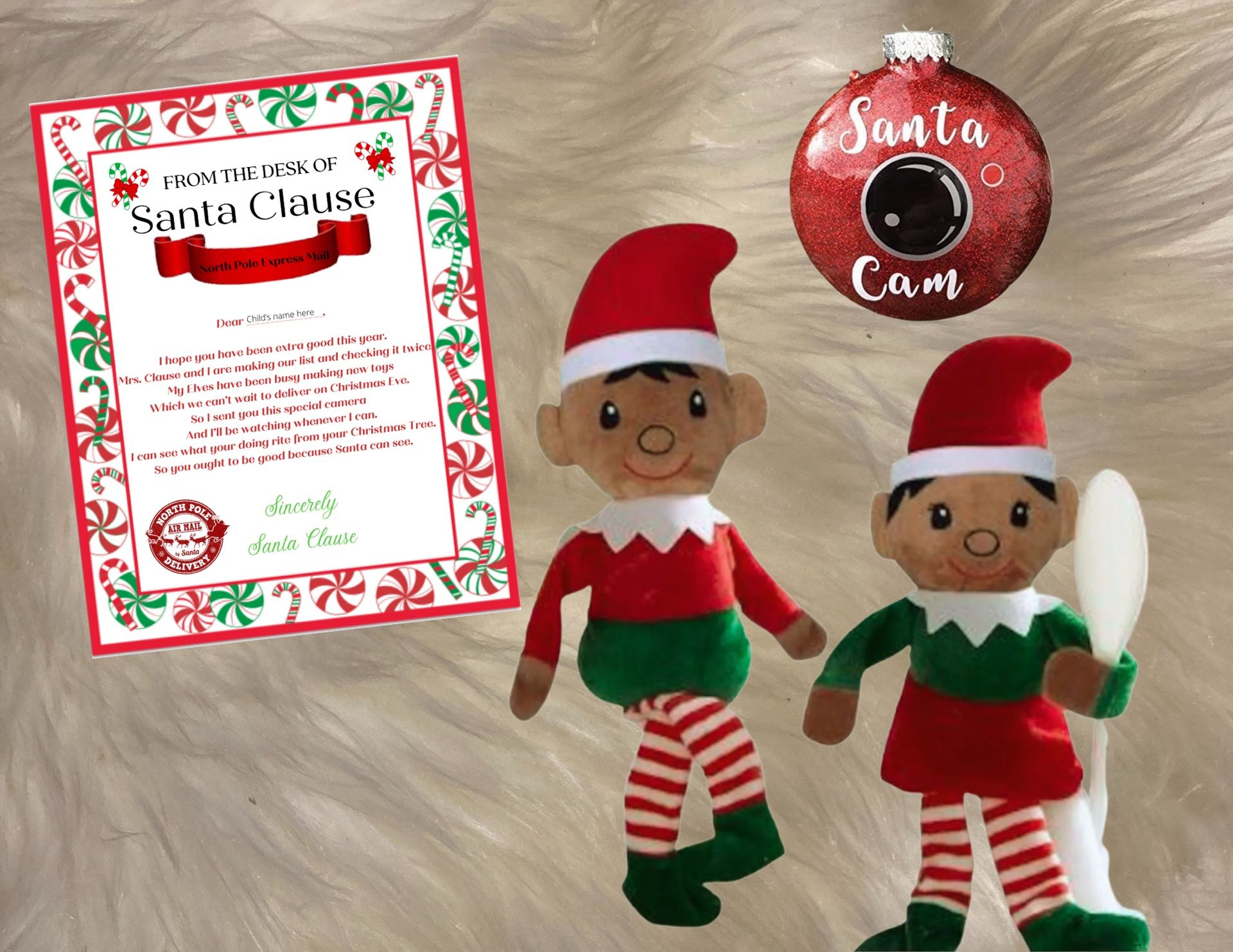 Customized Christmas Elf, Santa Cam and Letter from Santa