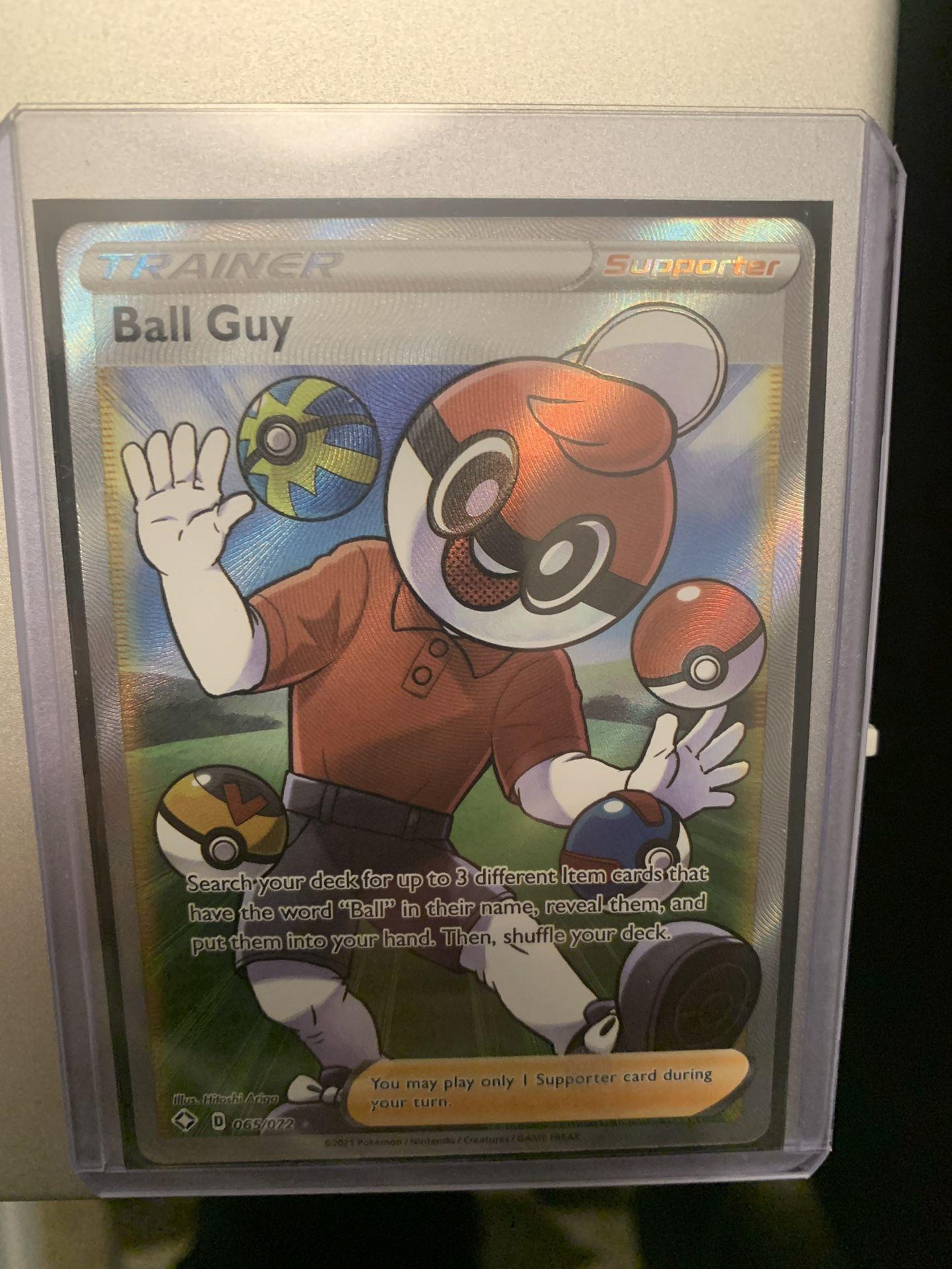 Pokemon Shining Fates Full Art Ball Guy